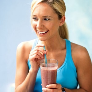 Enjoy a low fat smoothie!